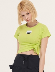 [ODDONEOUT] POINT LABEL STRING CROP (NEON GREEN)