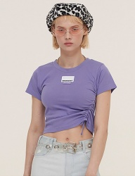 [ODDONEOUT] POINT LABEL STRING CROP (PURPLE)