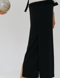 [nuissue] PK SLIT SKIRT[BLACK]