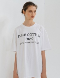 [nuissue] 100% T-SHIRT[WHITE]