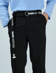 [BASIC COTTON] basic belt - black