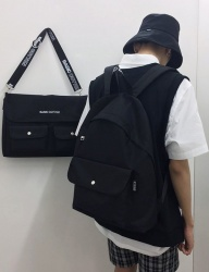 [BASIC COTTON] basic school bag