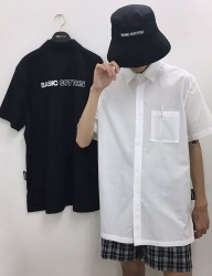 [BASIC COTTON] basic bucket hat - black