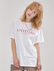 [AGENDER] UNTITLED LETTERING T-SHIRT_WH