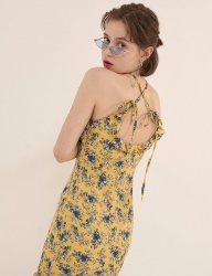 [ODDONEOUT] FLOWER ONEPIECE (YELLOW)