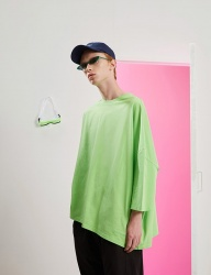 [TRUNK PROJECT] Unbalanced Sleeve Tshirts GREEN