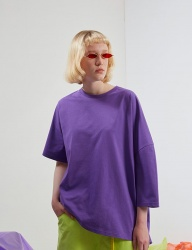 [TRUNK PROJECT] Unbalanced Sleeve Tshirts PURPLE