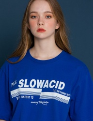 [SLOWACID] pH5.5 Logo Short-T [BLUE]