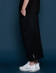 [SLOWACID] Wide Salcks pants [BLACK]
