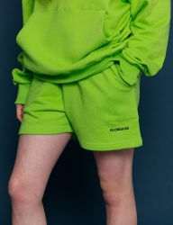 [SLOWACID] pH5.5 Logo Short pants [LIME]