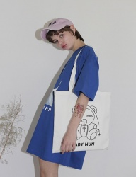 [CLUTSTUDIO] baby nun eco bag white