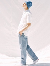 [VOIEBIT] V240 LINEN WIDE PANTS (SKYBLUE)