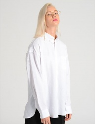 [costume oclock] LINEN DROP SHOULDER 82 SHIRTS WHITE