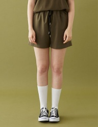 [MSKN2ND] M LOGO STANDARD FIT SHORTS KHAKI
