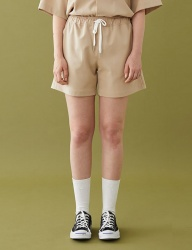 [MSKN2ND] M LOGO STANDARD FIT SHORTS BEIGE