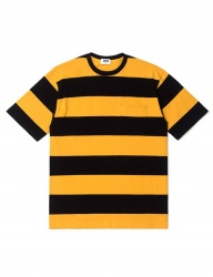 [QT8] TW Wide Stripe Tee (Yellow)