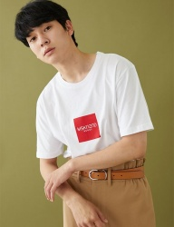 [MSKN2ND] BOX LOGO SS T-SHIRT WHITE
