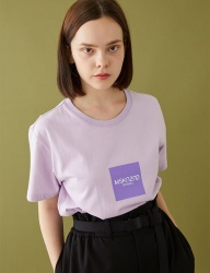 [MSKN2ND] BOX LOGO SS T-SHIRT LILAC