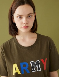 [MSKN2ND] ARMY M PRINTED SS T-SHIRT KHAKI