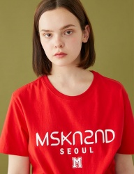 [MSKN2ND] MSKN2ND LOGO PRINTED SS T-SHIRT RED