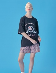 [WaiKei] WaiKei Hot Summer Opening Graphic Half T-shirts_Black
