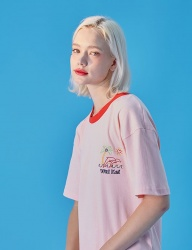 [WaiKei] WaiKei Hot Summer Embroidery Ringer T-shirts_Pink