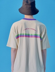 [WaiKei] WaiKei Hot Summer Embroidery Ringer T-shirts_Beige