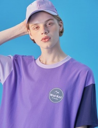 [WaiKei] WaiKei Hot Summer Color Block T-shirts_Purple