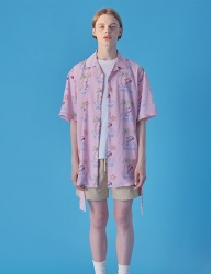 [WaiKei] WaiKei Hot Summer Dolphin Hawaiian Shirts_Light pink