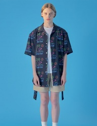 [WaiKei] WaiKei Hot Summer Dolphin Hawaiian Shirts_Black