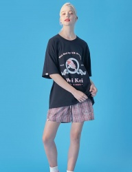 [WaiKei] WaiKei Hot Summer Unisex Short Pants_Check Pink