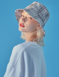 [WaiKei] WaiKei Hot Summer Bucket Hat_Check Grey