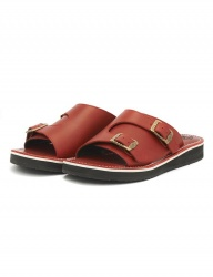 [The Wankers] Oil-leather Double Strap [Red]