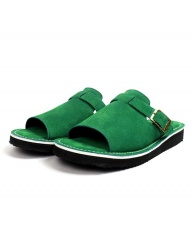 [The Wankers] Suede Single Strap [Green]
