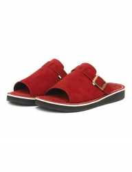 [The Wankers] Suede Single Strap [Red]