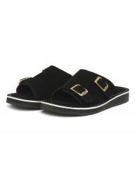[The Wankers] Suede Double Strap [Black]