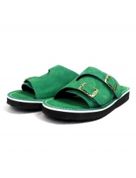 [The Wankers] Suede Double Strap [Green]