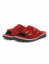 [The Wankers] Suede Double Strap [Red]