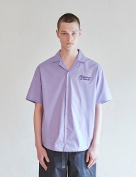 [CLIF] VENUS OPEN COLLAR SHIRTS _ PURPLE