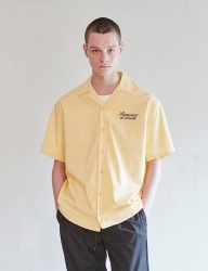 [CLIF] VENUS OPEN COLLAR SHIRTS _ YELLOW