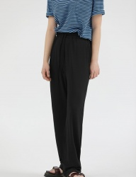 [REORG] R UNISEX WIDE PANTS BLACK