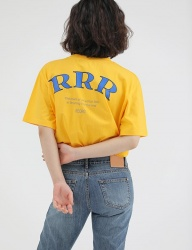 [REORG] R PRINGTING ROGO T-SHIRT YELLOW