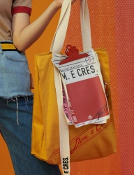 [DIM.E CRES.] CLIP ECO BAG_YELLOW