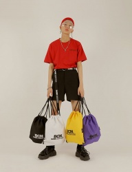 [BASIC COTTON] basic summer + bag set - red