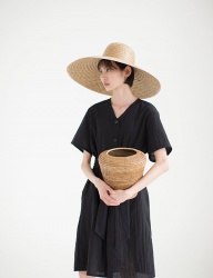 [NONLOCAL] Robe One -piece [Black]