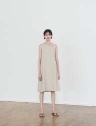 [NONLOCAL] Unbalnce One -piece [Beige]