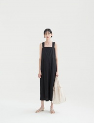 [NONLOCAL] Pleats Dress [Black]