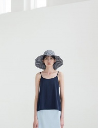 [NONLOCAL] Stripe Bucket Hat [Navy]