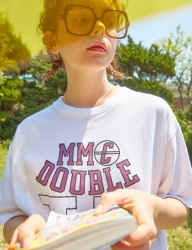 [MIMICAWE] MC DOUBLE U HALF TOP/WHITE