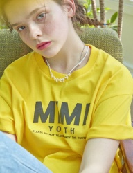[MIMICAWE] MIMI YOUTH HALF TOP/YELLOW